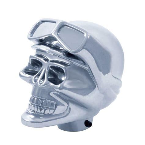 Chrome Skull Shift Knob by Universal Chrome Aluminum Skull Shift Knob Rat