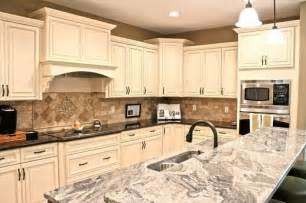 American Woodmark Kitchen Cabinets antique white maple glaze kitchen cabinets traditional