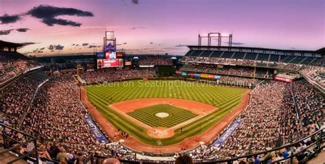 Baseball Wall Mural coors field denver co seating chart view