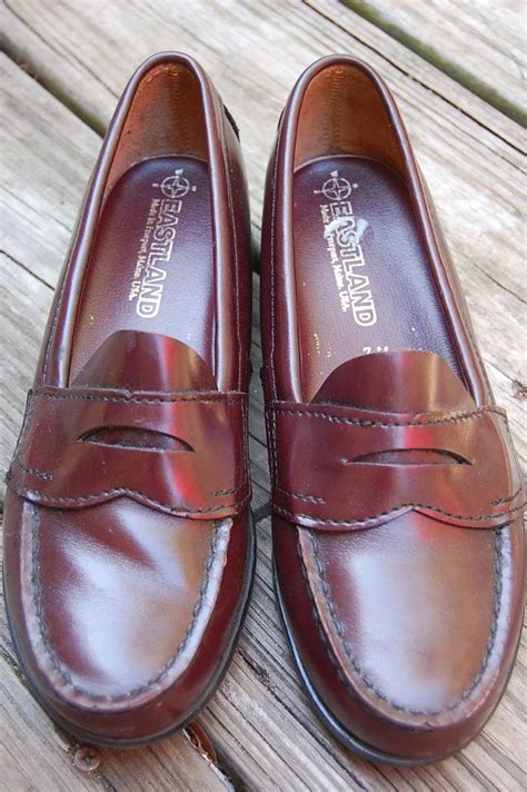 pennies in loafers vintage 80s eastland classic preppy loafers shoes