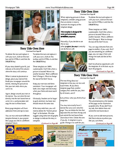 my publisher templates free newspaper templates print and digital