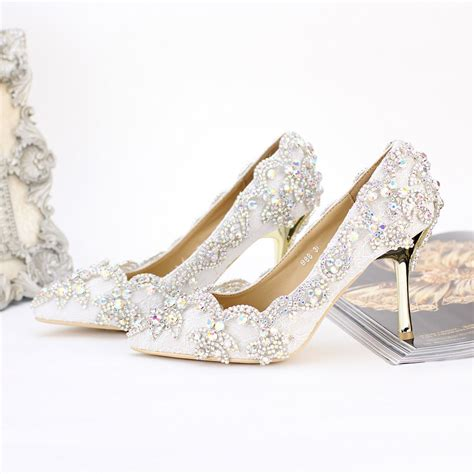 Beautiful Wedding Shoes by 2016 New Beautiful Wedding Shoes Pointed Toe High