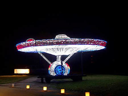 star trek s uss enterprise gets recreated with christmas