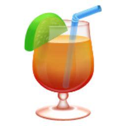 tropical drink emoji ufue