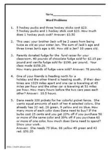 7th Grade Math Word Problems Worksheets by Grade 7 Math Word Problem Worksheet Place Value