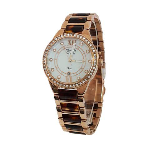 Model Jam Tangan Alexandre Christie Untuk Wanita jual alexandre christie 1430178 analog model permata tali keramik jam tangan wanita gold