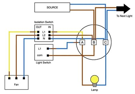 bathroom extractor fan with timer wiring diagram