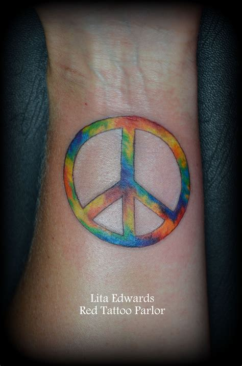 peace sign wrist tattoos tie dye peace sign wrist lita edw