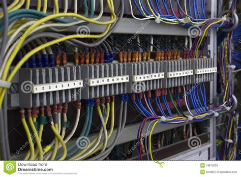 vintage electrical wiring stock image image of