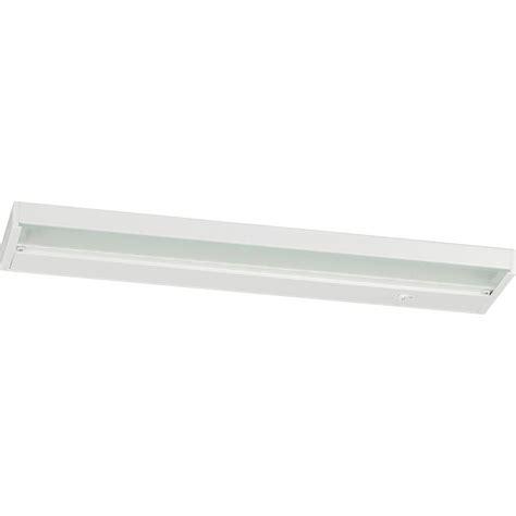 progress lighting 18 in white led cabinet light