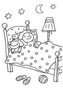 coloriage 224 imprimer chien au lit