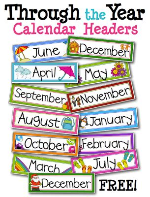 printable calendar labels for classroom free monthly labels for classroom calendar kinderland