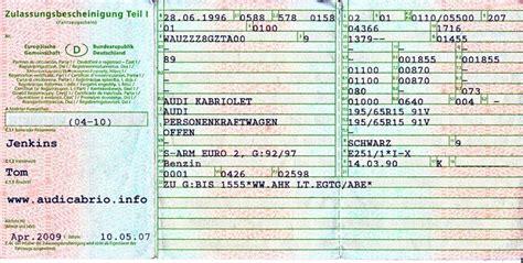 Wieviel Darf Mein Auto Ziehen by Vergleich Der Fahrzeugpapiere