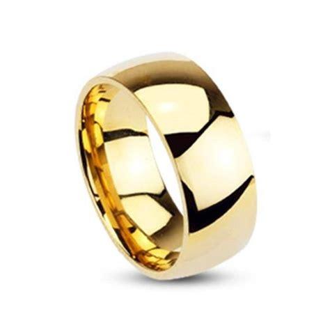Ring Hochglanz Polieren coolbodyart unisex edelstahl ring vergoldet klassischer