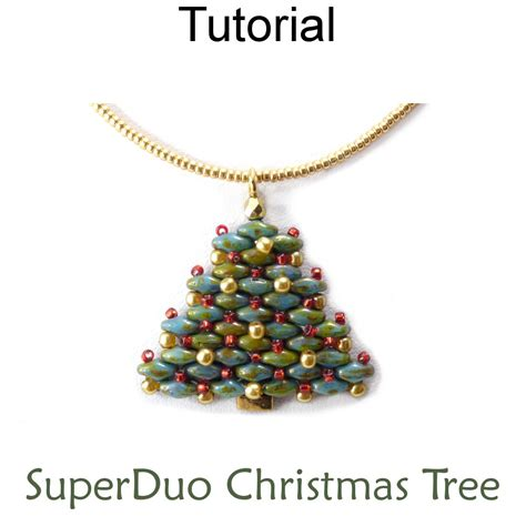 christmas tree earring pattern 2 hole superduo beaded christmas tree necklace earrings
