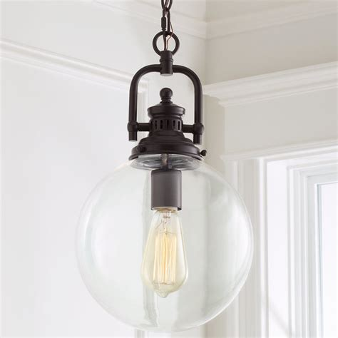 Glass Globe Pendant Lights Clear Glass Globe Industrial Pendant Shades Of Light