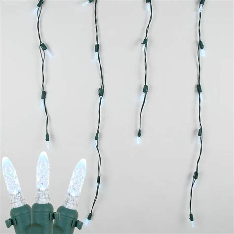 white lights green wire white led icicle lights on green wire novelty