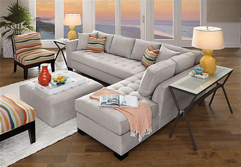 rooms to go sectional sofas home calvin heights xl platinum 3 pc