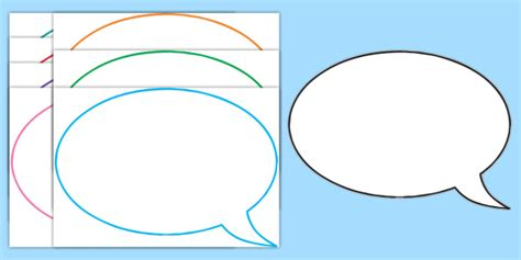 Editable Speech Template by Editable Speech Bubbles Speech Bubbles Editable