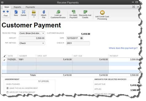 receiving payments in quickbooks do you know which forms
