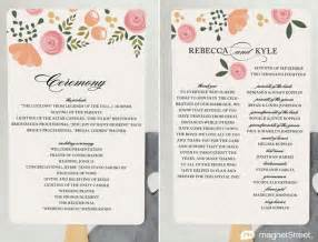 wedding ceremony program wording sles 2 modern wedding program and templates discover more ideas about modern wedding program and