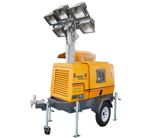 trailer light types light tower 8kw trailer type diesel generator with 4