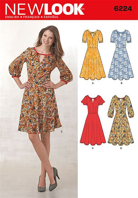 New Look 6224 Misses' Dress with Sleeve Variations
