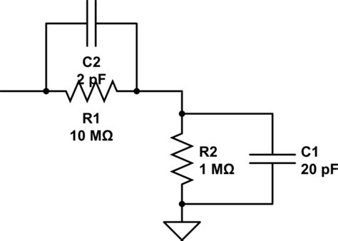 voltage divider for capacitor signal which one is better as voltage divider resistive capacitive low pass filter
