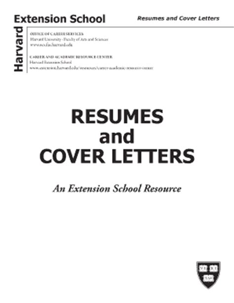harvard extension resume guidelines resume cover letter for college students forms and