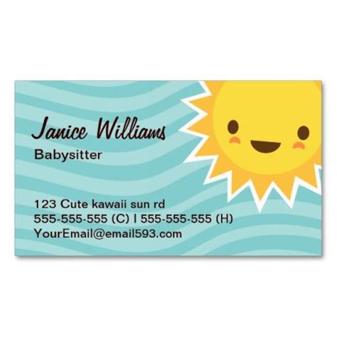 Babysitting Business Card Template by 140 Best Images About Babysitting Business Cards On