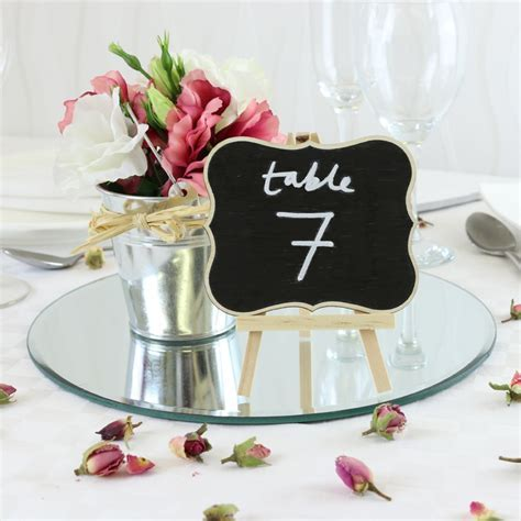 Table Decorations Mirror Plates & Id Et Photo Dcoration