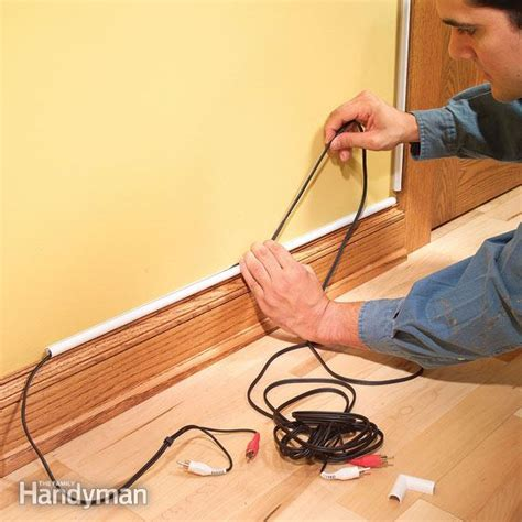 how to cover exposed electrical wires how to hide wiring speaker and low voltage wire the