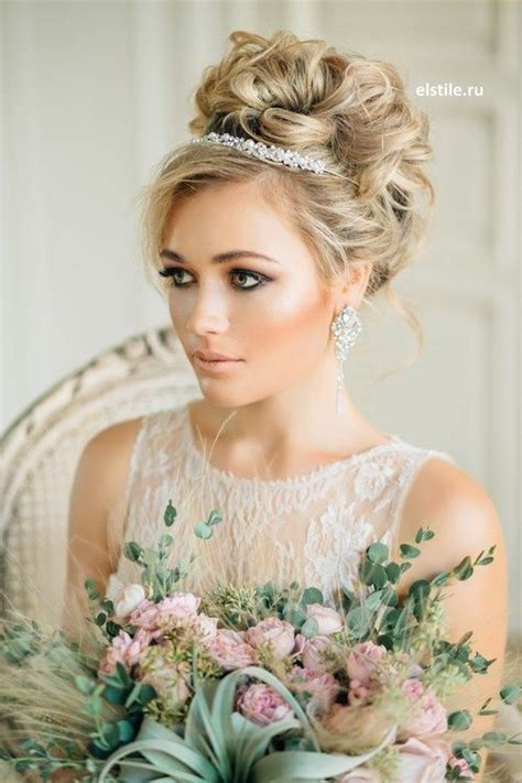 Wedding Hair Up With Veil And Tiara by Wedding Hairstyles For Hair With Tiara And Veil