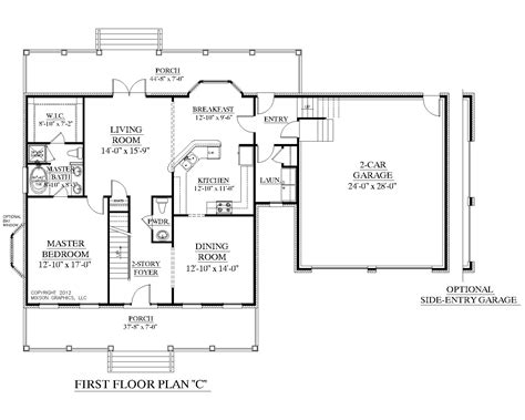 2 Story House Plans With Master On Main Floor by Southern Heritage Home Designs House Plan 2341 C The