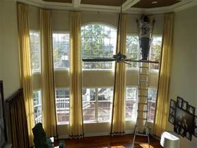 Curtains For Family Room Curtains On Two Story Windows Window Treatments And Family Rooms