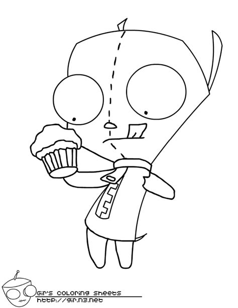 Invader Zim Gir Coloring Pages Az Coloring Pages Gir Coloring Pages