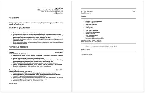 sle carpenter resume carpenter resume sle 28 images 28 carpenter resume sle