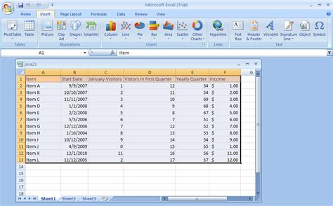 java pattern date exle charts in ms excel 2007 images how to guide and refrence