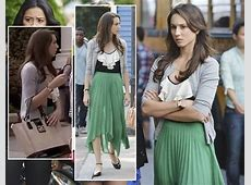 WornOnTV: Hanna's blue polka dot dress and multicolored ... Zaan Khan