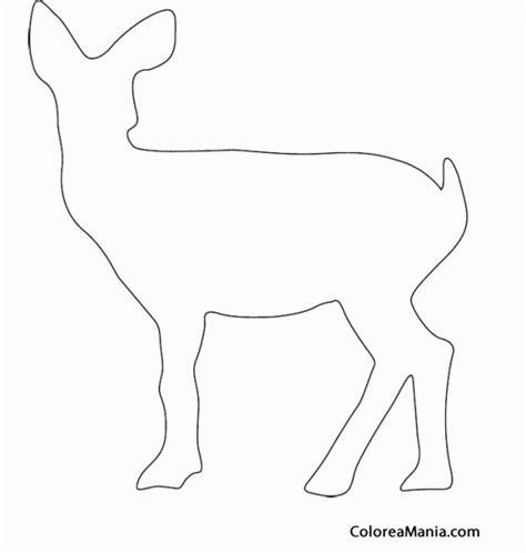 imagenes de ovejas faciles para dibujar colorear silueta cervatillo animales del bosque dibujo