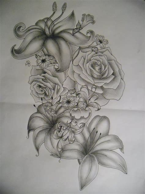 lily and rose tattoos 35 flower design sles and ideas