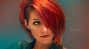 sidecut hairstyle red hair music video 183 sidecut speed process diy tutorial