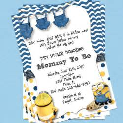 minion baby shower invitations theruntime