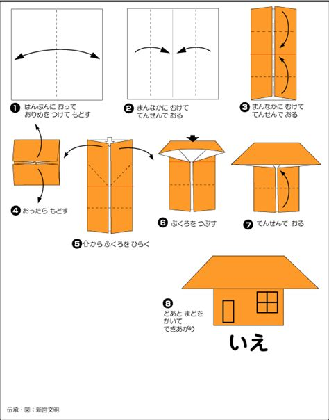 How To Make House Paper - extremegami how to make a origami house