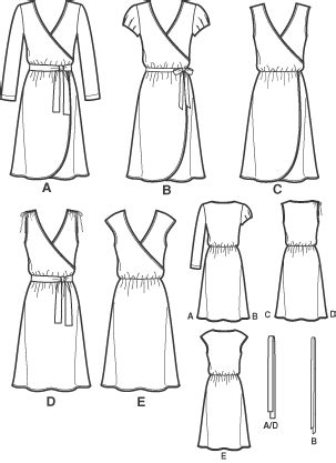 pattern review template new look 6697 misses knit dress