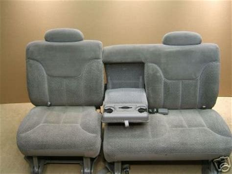 suburban 2nd row bench seat 95 99 suburban 2nd row seat 60 40 grey cloth 20 firm