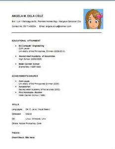resume template for high school graduate with no work experience sle resume for fresh high school graduates with no
