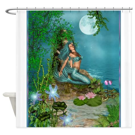 mermaid shower curtain best seller merrow mermaid shower curtain by the jersey