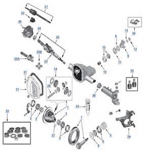 zj grand cherokee model 30 front axle 4 wheel parts