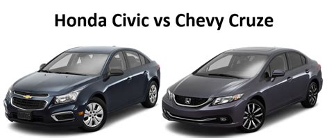 chevy cruze or honda civic 2016 honda civic and chevrolet cruze comparison car from